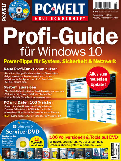 PC-WELT Sonderheft  »Profi-Guide Windows 10« 11/2018