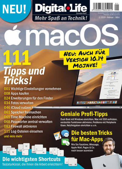 Digital Life Sonderheft »MacOS« 01/2019