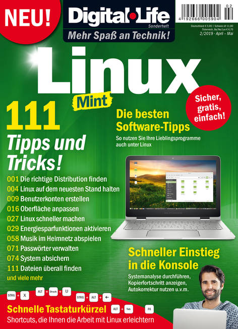 Digital Life Sonderheft »Linux-Mint« 02/2019