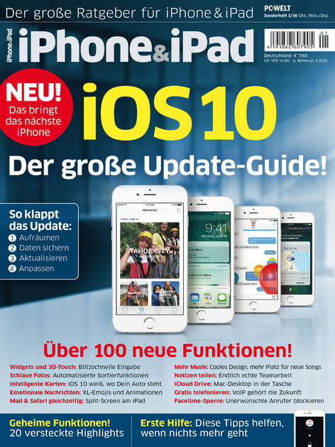 iPhone&iPad Sonderheft »iOS 10« 01/2016