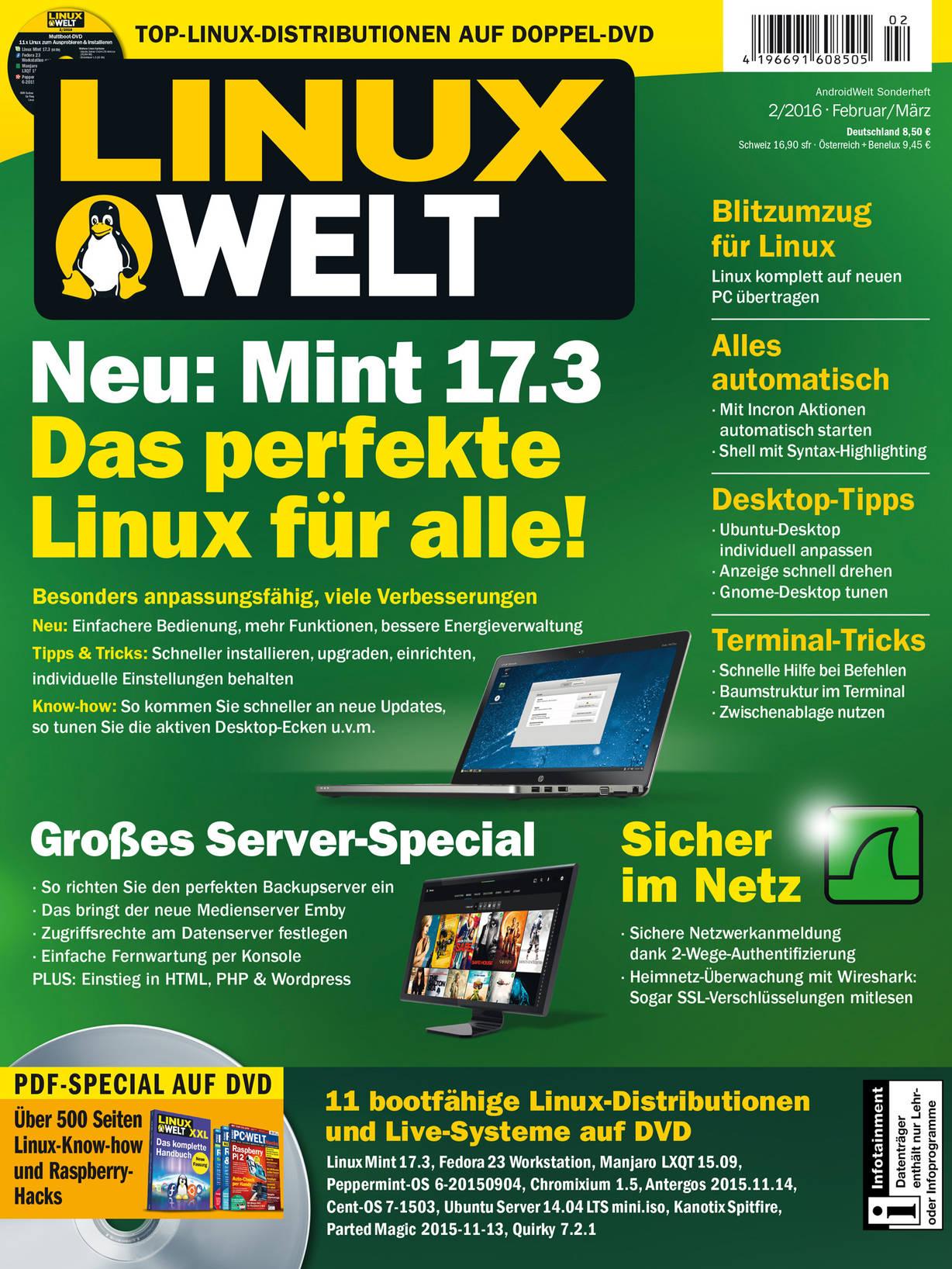 LinuxWelt 02/2016 · Einzelausgaben LinuxWelt · IDG Shop